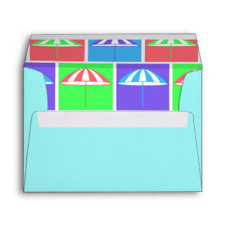 Colorful parasol pattern envelope