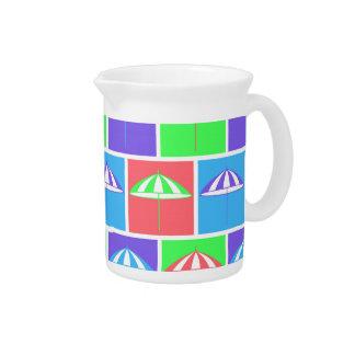Colorful parasol pattern pitcher