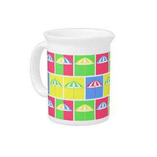 Colorful parasol pattern drink pitcher
