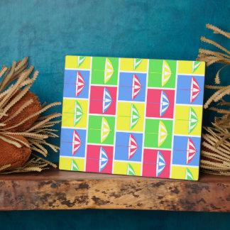 Colorful parasol pattern plaque