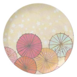 Colorful Parasol Umbrella Plate