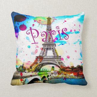 Colorful Paris Design Pillow