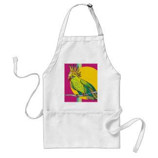 Colorful Parrot Adult Apron