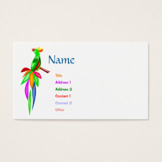 Colorful Parrot Business Card