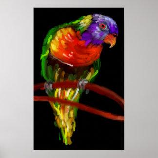 Colorful Parrot Digital Art Print