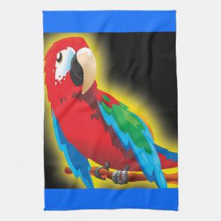 Colorful Parrot Kitchen Towel at Zazzle