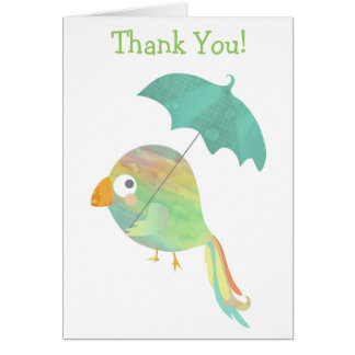 Colorful Parrot Thank You! card