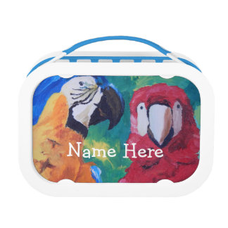 Colorful Parrots Lunch Box