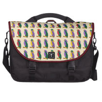 Colorful Parrots Purple Yellow Red and Green Tiled Laptop  Computer Bag at Zazzle