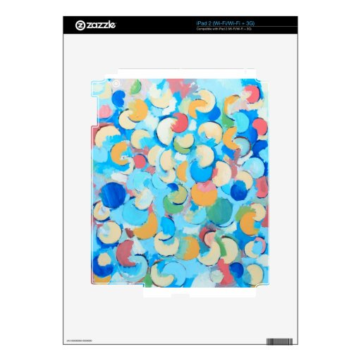 Colorful Partial Eclipses (circular cubism) Skin For iPad 2