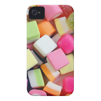 Colorful party candy mix print iPhone 4 case
