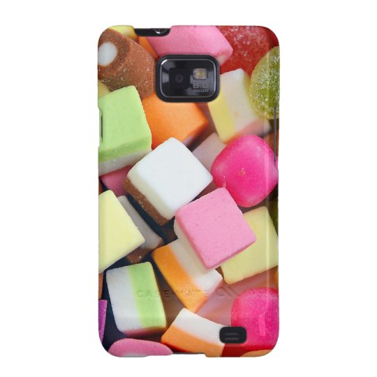 Colorful party candy mix print samsung galaxy s2 cover