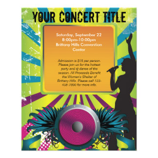 Colorful Party Flyer Singer with Winged Speaker
