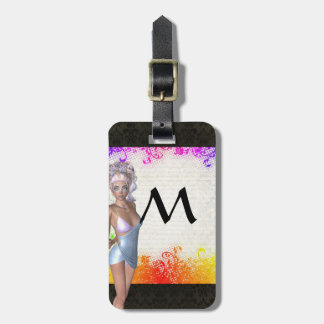 Colorful party girl bag tag
