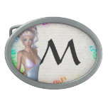Colorful party girl belt buckle
