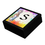 Colorful party girl gift box