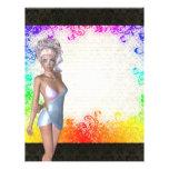 Colorful party girl personalized flyer