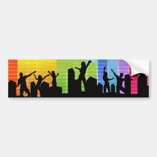 Colorful Party Music Bumper Sticker