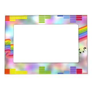 Colorful Party Music Picture Frame Magnets
