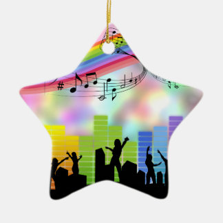 Colorful Party Music Christmas Ornament