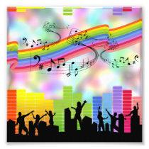 Colorful Party Music Photo Print