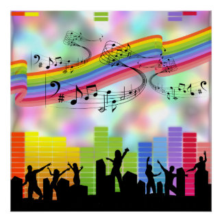 Colorful Party Music Poster