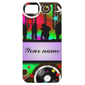Colorful party people dancing iPhone SE/5/5s case