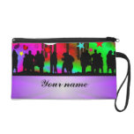 Colorful party people dancing wristlets