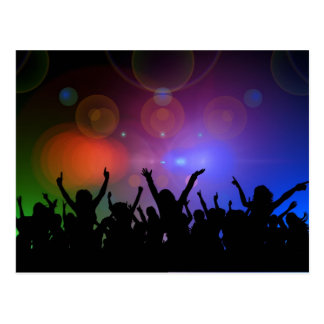 Colorful party postcard