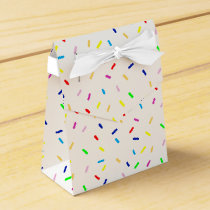 colorful party sprinkles favor box