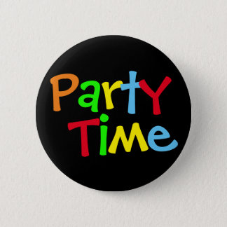 Colorful Party Time Button