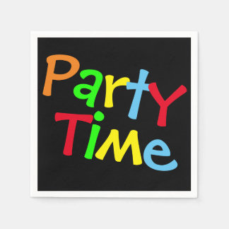 Colorful Party Time Paper Napkin