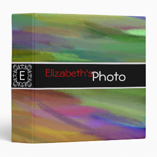 Colorful Pastel Abstract Album Photo Binder