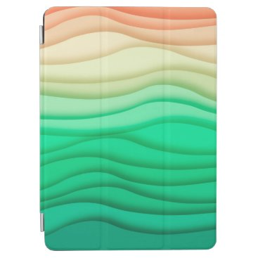 Colorful Pastel Abstract Waves   iPad Air Case