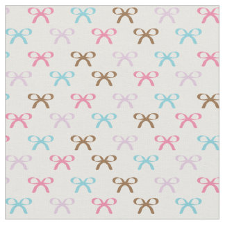 Colorful Pastel and Bold Bows Fabric