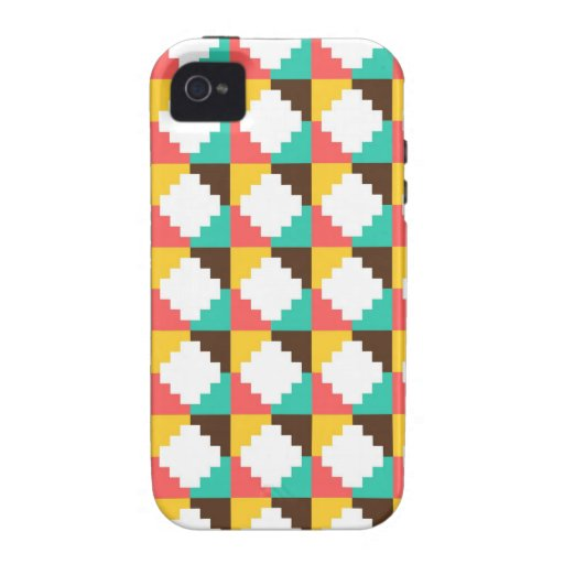 Colorful Pastel Aztec Native American Pattern Gift iPhone 4/4S Cases