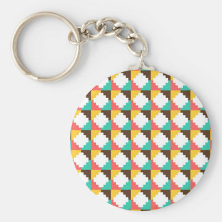 Colorful Pastel Aztec Native American Pattern Gift Keychain