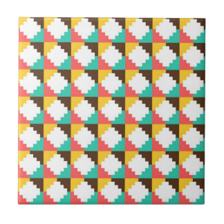 Colorful Pastel Aztec Native American Pattern Gift Tile