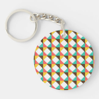 Colorful Pastel Aztec Native American Pattern Keychain