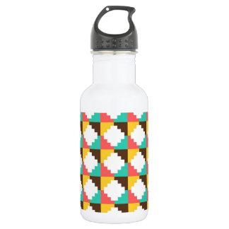 Colorful Pastel Aztec Native American Pattern Water Bottle