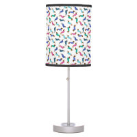 Colorful Pastel Dachshund Table Lamp