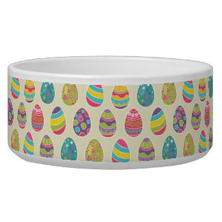 Colorful Pastel Easter Eggs Cute Pattern Bowl