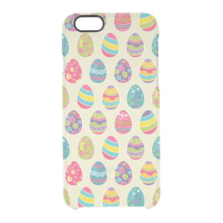 Colorful Pastel Easter Eggs Cute Pattern Clear iPhone 6/6S Case