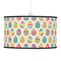 Colorful Pastel Easter Eggs Cute Pattern Hanging Lamp