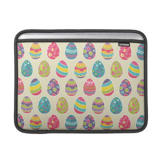 Colorful Pastel Easter Eggs Cute Pattern MacBook Sleeve