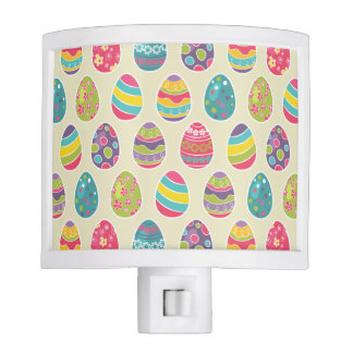 Colorful Pastel Easter Eggs Cute Pattern Night Light