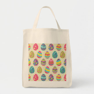 Colorful Pastel Easter Eggs Cute Pattern Tote Bag