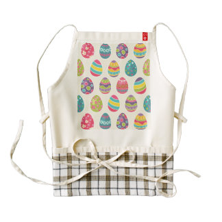 Colorful Pastel Easter Eggs Cute Pattern Zazzle HEART Apron