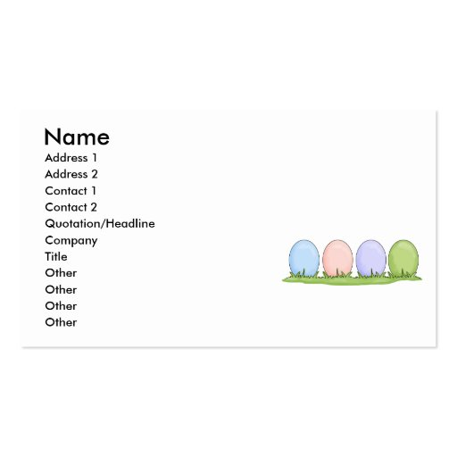 colorful pastel easter eggs Double-Sided standard business cards (Pack of 100)