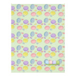 colorful pastel easter eggs personalized letterhead